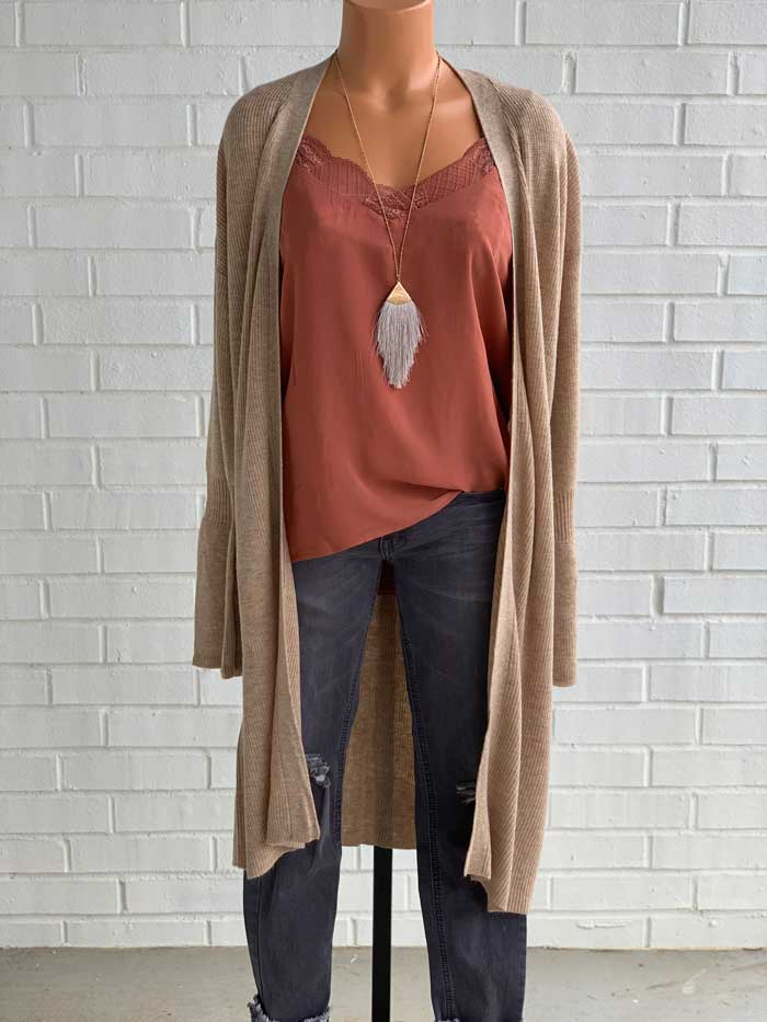 Trumpet Sleeve Cardigan - Jade Creek Boutique