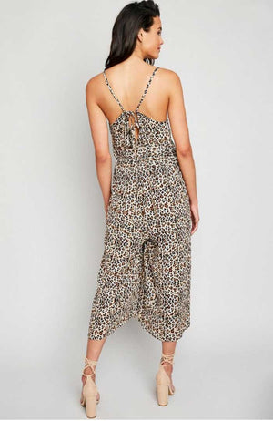 Leopard Print Crop Jumpsuit - Jade Creek Boutique