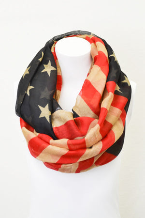 Lightweight Flag Infinity Scarf - Jade Creek Boutique