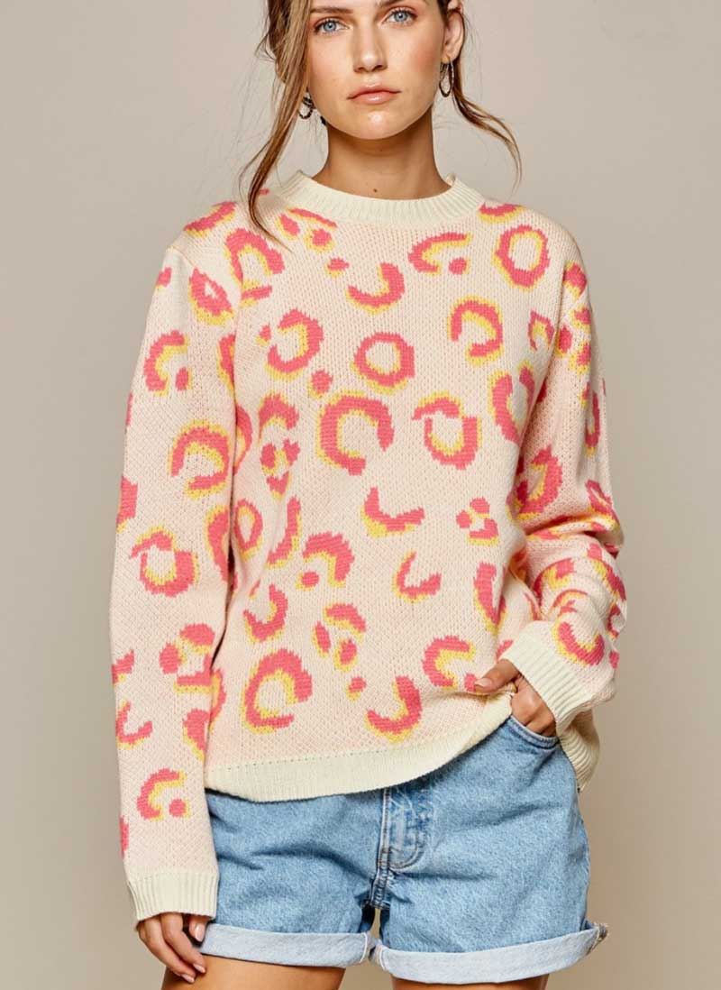 Pink Lemonade Leopard Sweater