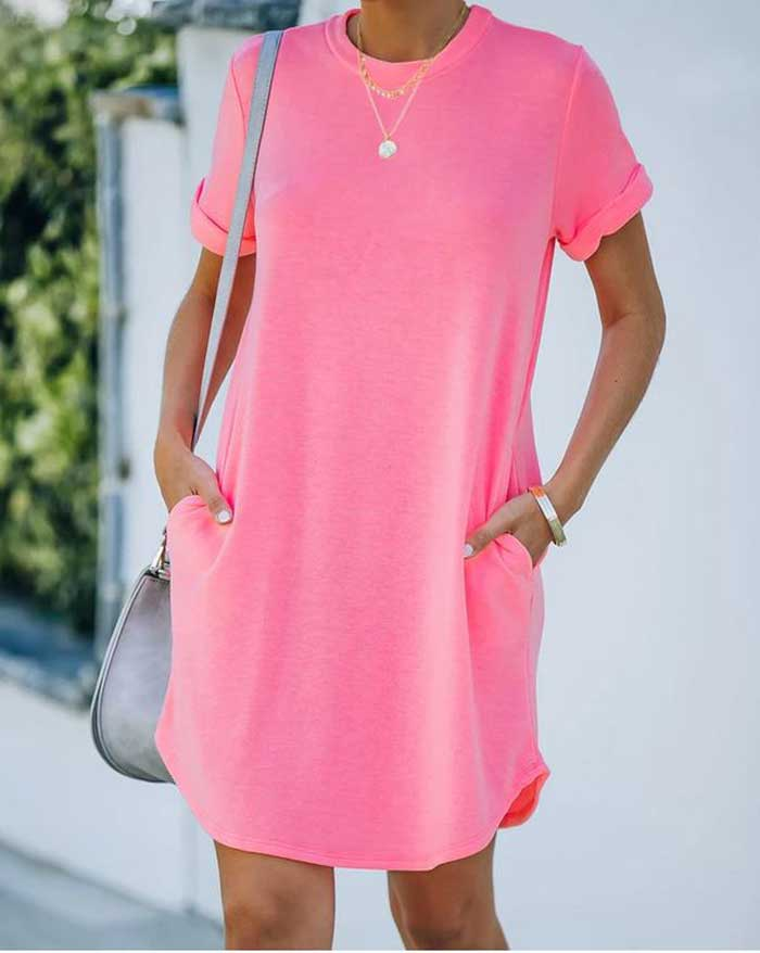 Neon Pocket Dress, Two Colors