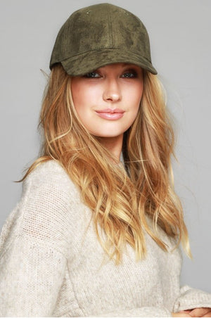 Faux Suede Baseball Hat, Two colors - Jade Creek Boutique