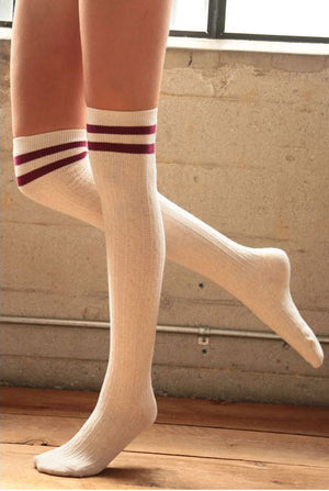 Over the Knee Socks with Wide Stripe - Jade Creek Boutique