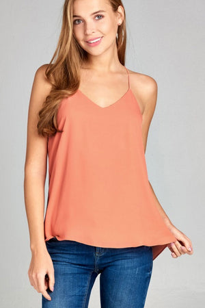 Porter Peach Layered Cami - Jade Creek Boutique