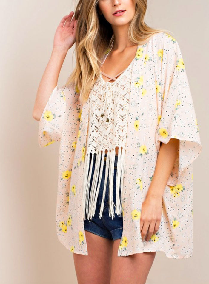 Pink Lemonade Kimono - Jade Creek Boutique