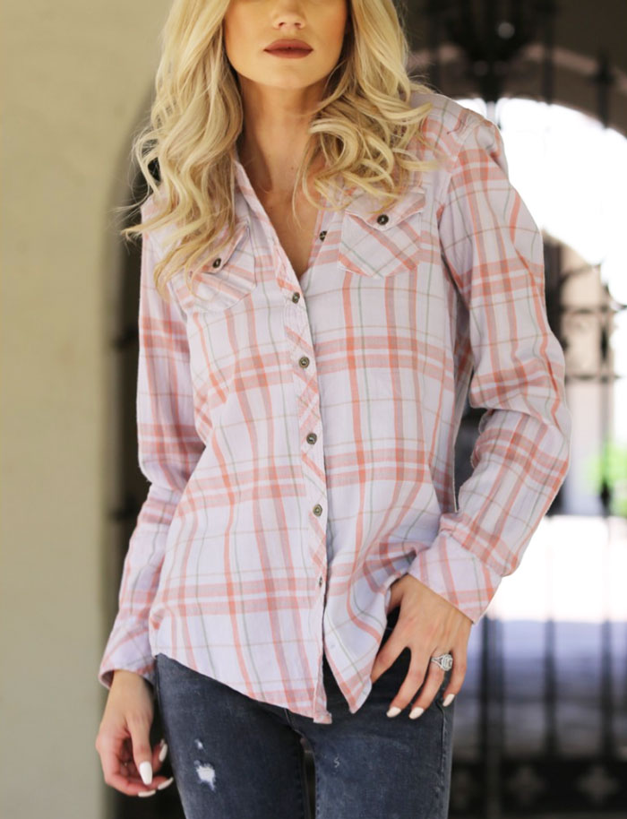 Western Plaid Flannel - Jade Creek Boutique