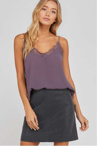 Olive Embroidered Boho Top