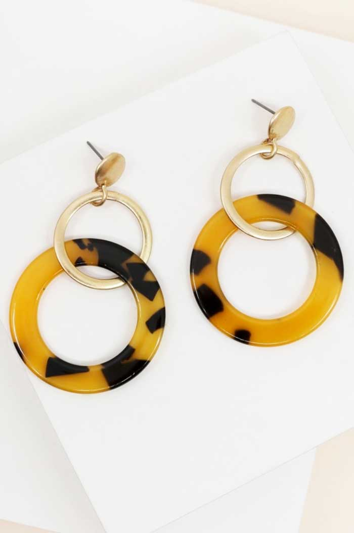 Double Hoop Resin Earrings - Jade Creek Boutique