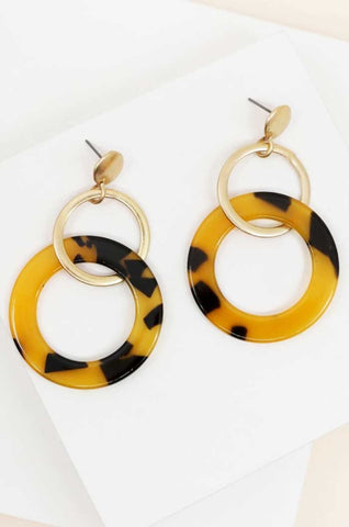 Leopard Print Dangle Earrings