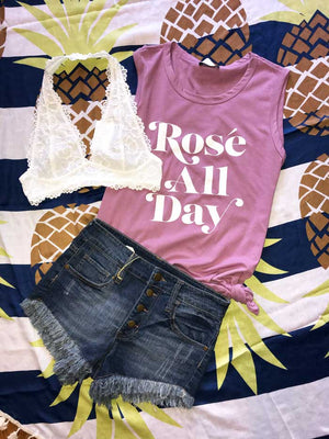 Rose All Day Graphic Tee - Jade Creek Boutique