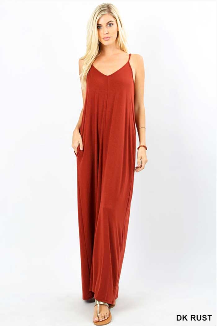 Simple Spaghetti Strap Maxi Dress, Four Colors - Jade Creek Boutique