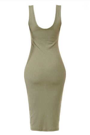 Easy Fit Midi Tank Dress, Two Colors - Jade Creek Boutique