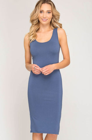 Cobalt Blue T-Shirt Dress