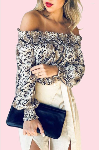 Leopard Print Off Shoulder Dress