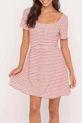Nautical Lace Up Dress