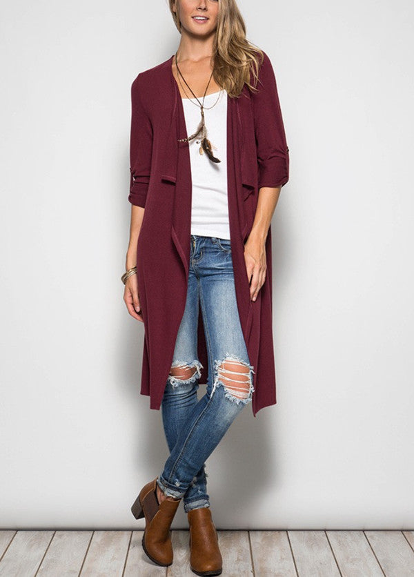 photo drape dreams fashion cardigan stylish barefoot drapes front gallery knit cable sweater image