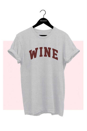 Vintage Gray WINE Graphic Tee - Jade Creek Boutique