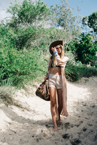 Bohemian style for a day at the beach