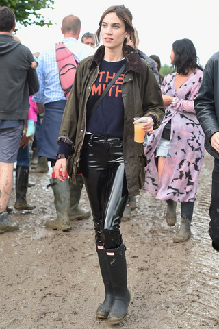 Alexa Chung at Glastonbury 2016