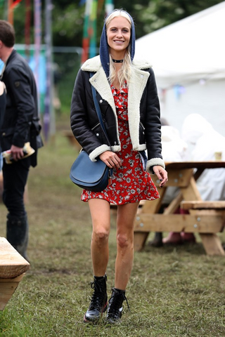 Poppy Delevingne at Glastonbury 2016