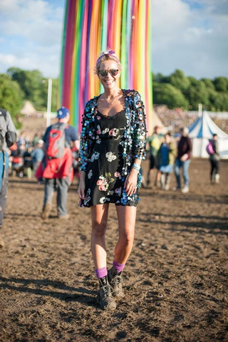 Boho fashion at Glastonbury 2016