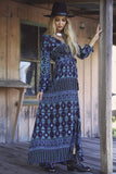 Tribal Madness Maxi Wrap Dress Aqua