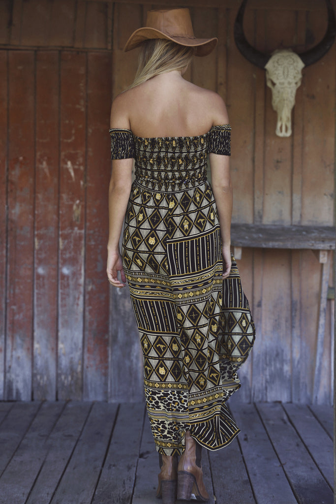 Tribal Haven Dress Gold