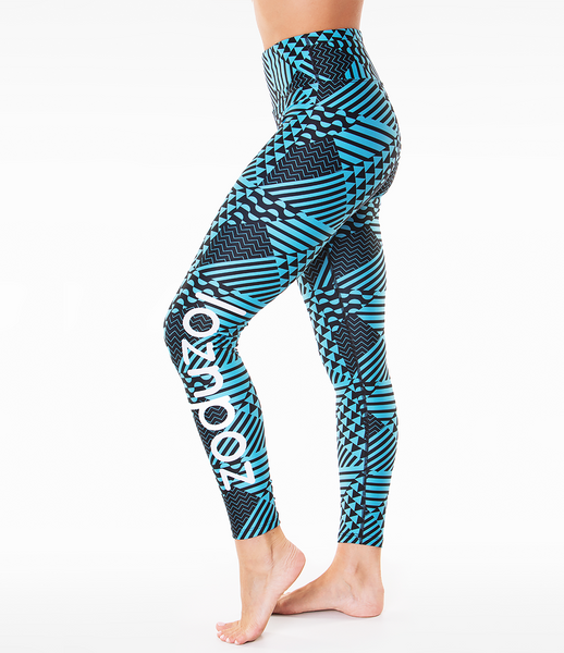 Loznpoz Athletic Leggings 'Tessellate'