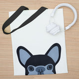 Peekaboo French Bulldog Bag - Black