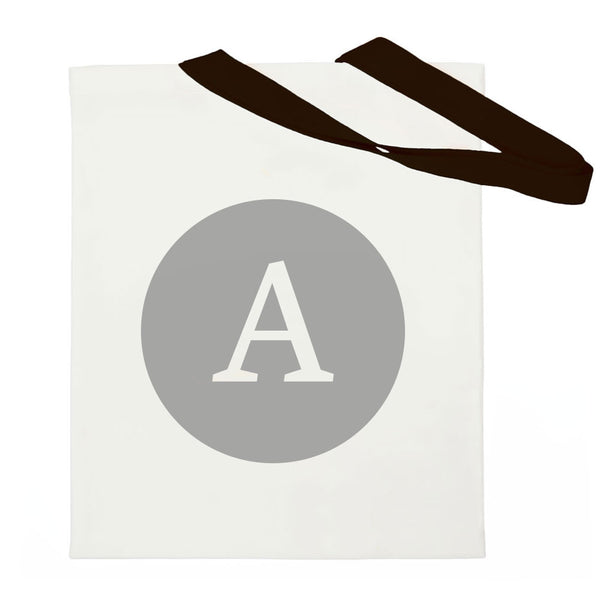 Alphabet Letter Bag - Black / Grey