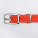 Orange corduroy dog collar