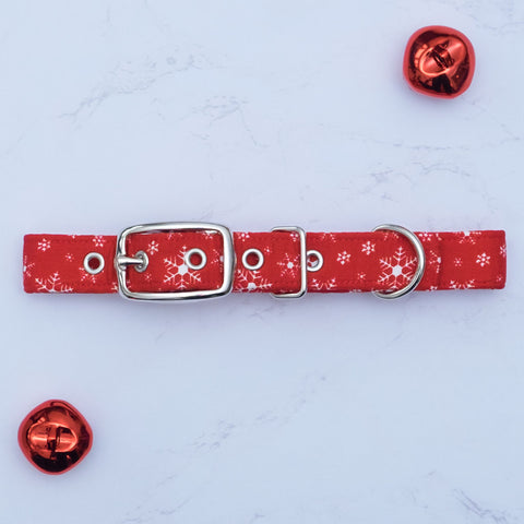 Snowflakes Dog Collar
