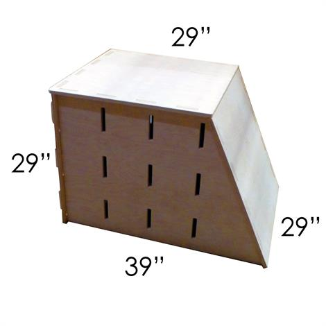 1-Sided Trapezoid Pop Up Parkour Box