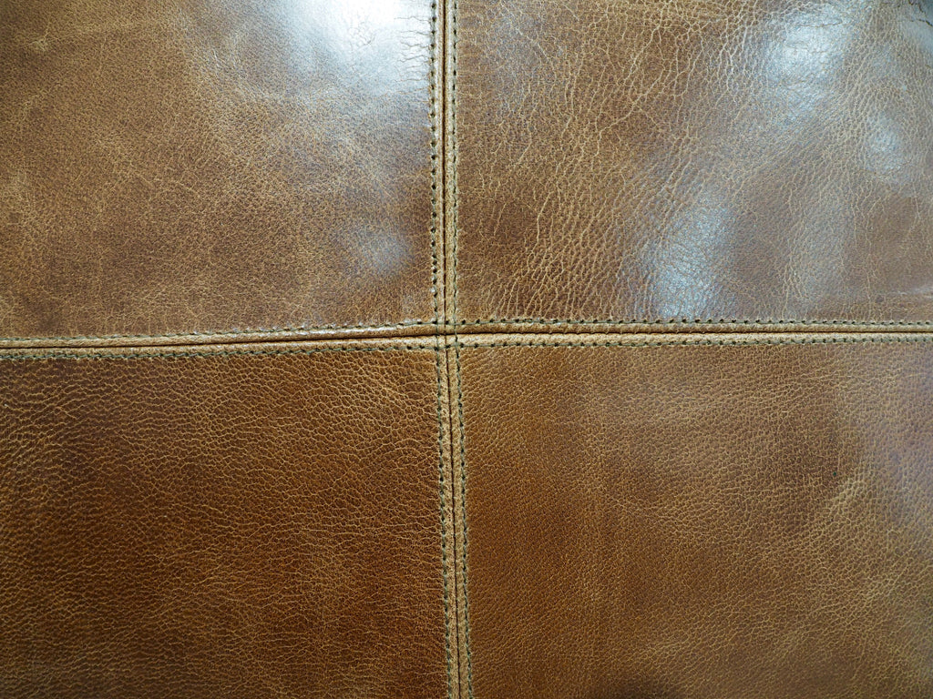 Leather cushion texture -  Patched Tan Leather Cushion Cover