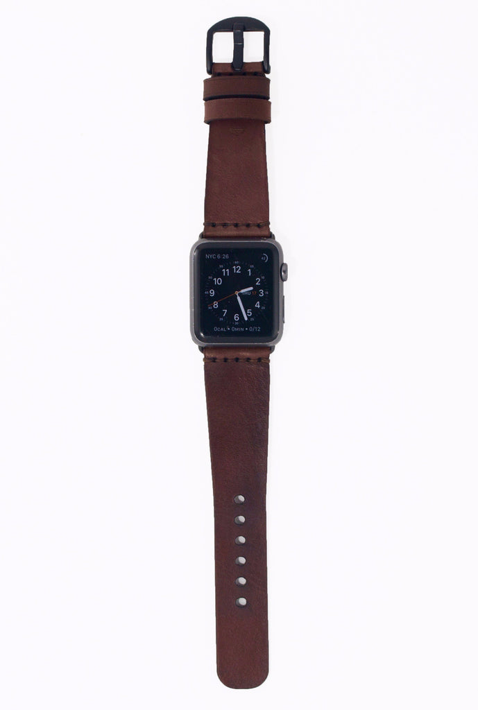 Tapered Apple Watch Band - Dark Brown