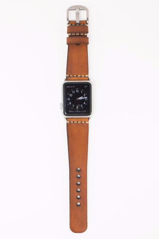 Tapered Apple Watch Band - Light Brown