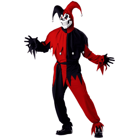 California Costume Men's Adult- Red Evil Jester