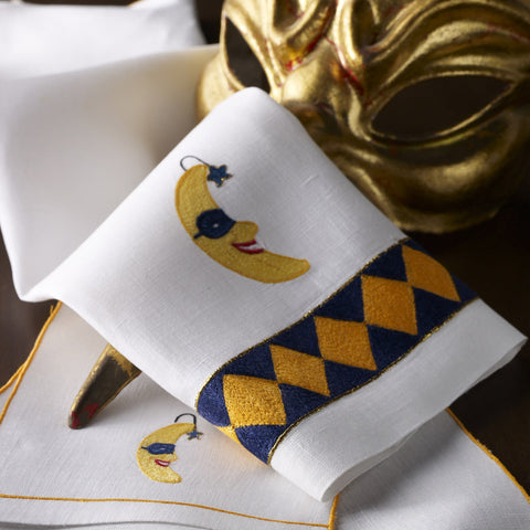 Leron Linens Harlequin Guest Towels and Cocktail Napkins