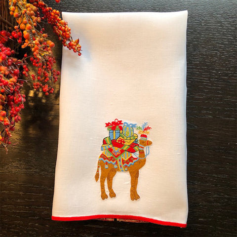 Camels Bearing Gifts Guest Towel