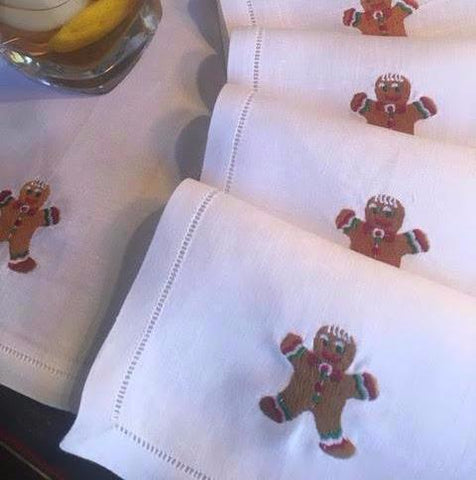 Gingerbread Man Cocktail Napkins