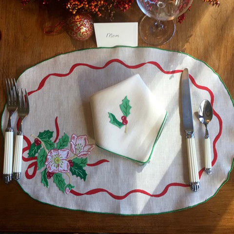Leron Linens Holiday Luncheon Set