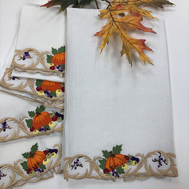 Pumpkin & Scroll Guest Towels