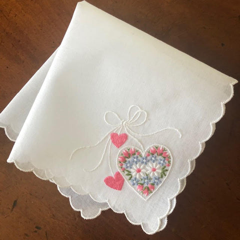 Hearts & Flowers Handkerchief