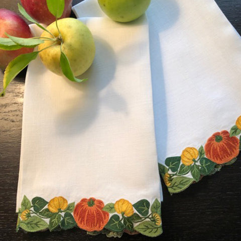 Pumpkin Vine Guest Towels
