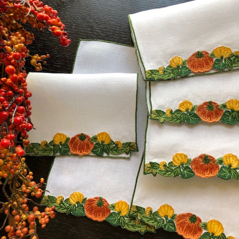 Pumpkin Vine Cocktail Napkins