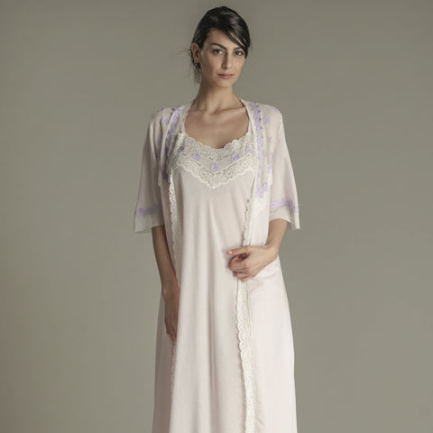 Scarlett Cotton Nightgown & Robe Set