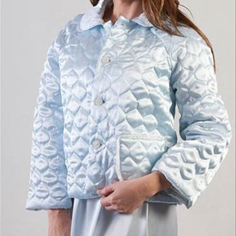 Leron Linens Blue Bed Jacket Option