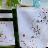 Leron Linens Field Flowers Table Cloth
