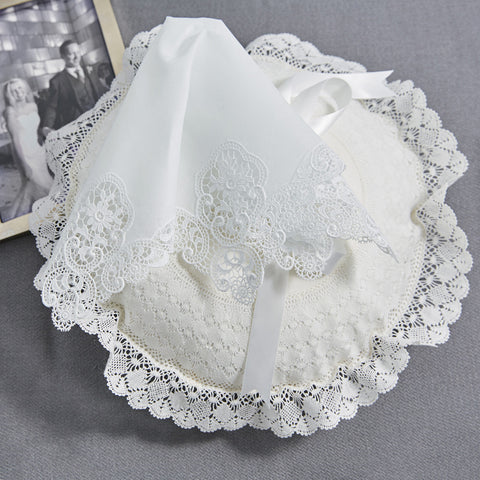 Leron Linens French Lace Bridal Handkerchiefs
