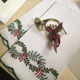 Leron Linens Christmas Garland Guest Towels